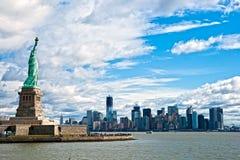 Horizonte de Manhattan, New York City. LOS E.E.U.U. Foto de archivo