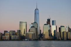 Horizonte de Manhattan, NYC imagen de archivo libre de regalías
