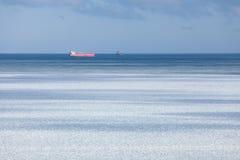 Horizonte de mar congelado Imagens de Stock