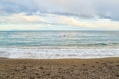 Horizonte de mar do adriático Fotografia de Stock