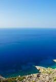 Horizonte de mar en Folegandros Grecia imágenes de archivo libres de regalías