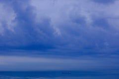 Horizonte de mar, mau tempo Foto de Stock Royalty Free