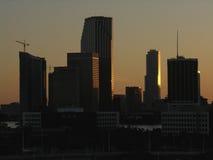 Horizonte de Miami Foto de archivo libre de regalías