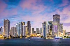 Horizonte de Miami Imágenes de archivo libres de regalías