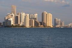 Horizonte de Miami de Key Biscayne imágenes de archivo libres de regalías