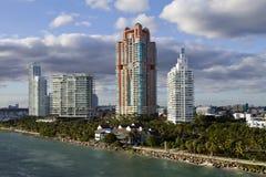 Horizonte de Miami la Florida Fotografía de archivo libre de regalías