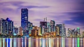 Horizonte de Miami la Florida Foto de archivo libre de regalías