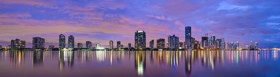 Horizonte de Miami la Florida imagen de archivo