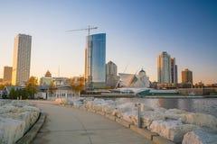 Horizonte de Milwaukee imagenes de archivo