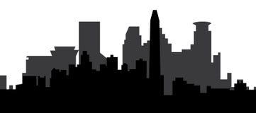 Horizonte de Minneapolis ilustración del vector