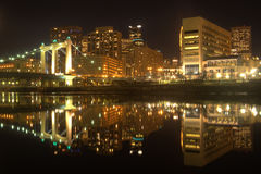 Horizonte de Minneapolis Imagenes de archivo
