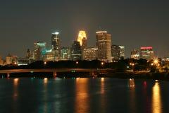 Horizonte de Minneapolis Foto de archivo libre de regalías