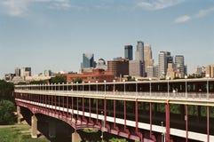 Horizonte de Minneapolis fotografía de archivo