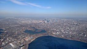 Horizonte de Minneapolis Foto de archivo