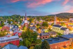Horizonte de Montpelier, Vermont, los E.E.U.U. Imagenes de archivo