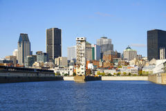 Horizonte de Montreal Imágenes de archivo libres de regalías