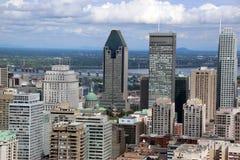 Horizonte de Montreal de Mont Royal Fotos de archivo