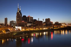 Horizonte de Nashville, Tennessee Foto de archivo