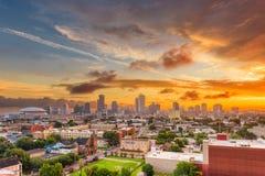 Horizonte de New Orleans, Luisiana, los E.E.U.U. CBD imagen de archivo
