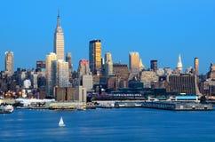 Horizonte de New York City Imágenes de archivo libres de regalías