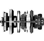 Horizonte de New York City stock de ilustración