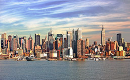 Horizonte de New York City Foto de archivo libre de regalías
