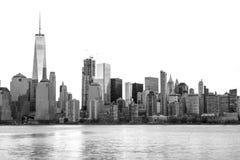 Horizonte de New York City en blanco y negro Foto de archivo libre de regalías