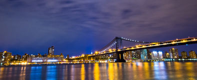 Horizonte de New York City, los E.E.U.U. Foto de archivo libre de regalías