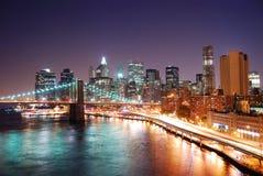 Horizonte de New York City Manhattan Foto de archivo libre de regalías