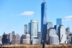 Horizonte de New York City Manhattan Imagenes de archivo