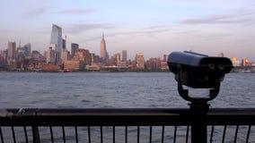 Horizonte de New York City por la tarde Visión desde Jersey City
