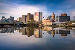 Horizonte de Newark, New Jersey Imagen de archivo libre de regalías