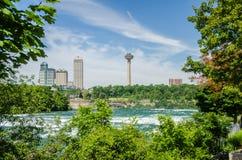 Horizonte de Niagara Falls Ontario Canadá Fotos de archivo