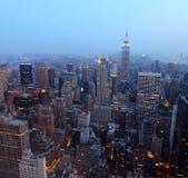 Horizonte de Nueva York Imagen de archivo libre de regalías
