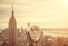 Horizonte de Nueva York Imágenes de archivo libres de regalías