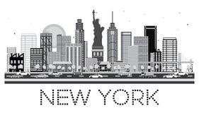 Horizonte de Nueva York en color blanco y negro