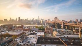 Horizonte de Nueva York, Nueva York, los E.E.U.U. Manhattan metrajes