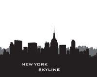 Horizonte de Nueva York Paisaje de los E Paisaje urbano con el skyscrape