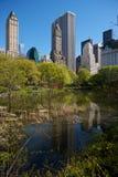 Horizonte de Nueva York visto de Central Park Fotografía de archivo