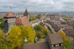 Horizonte de Nuremberg, Baviera, Alemania imagen de archivo