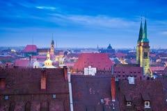 Horizonte de Nuremberg (Nürnberg, Alemania) Imagen de archivo libre de regalías