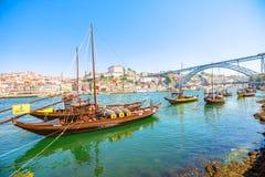 Horizonte de Oporto Ribeira Imagen de archivo libre de regalías