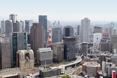 Horizonte de Osaka, Japón Foto de archivo