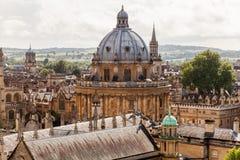 Horizonte de Oxford con la cámara de Radcliffe Imagen de archivo