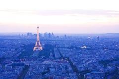 Horizonte de París Imagen de archivo libre de regalías