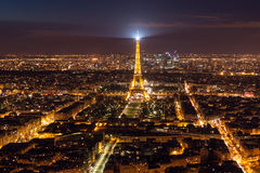 Horizonte de París de Notre Dame de Paris Foto de archivo