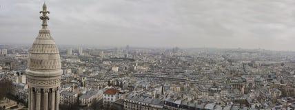 Horizonte de París de Notre Dame de Paris Foto de archivo libre de regalías