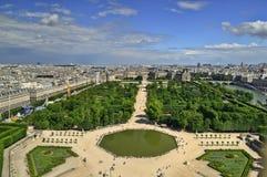 Horizonte de París de Notre Dame de Paris Fotos de archivo