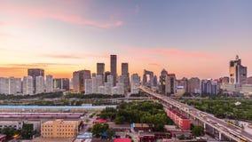 Horizonte de Pekín, China almacen de video
