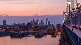 Horizonte de Philadelphia Pennsylvania almacen de metraje de vídeo